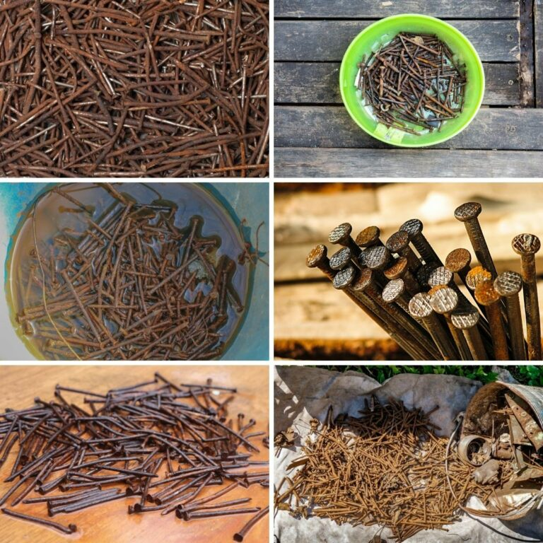 rusty nails collage