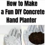 How to Make a Fun DIY Concrete Hand Planter