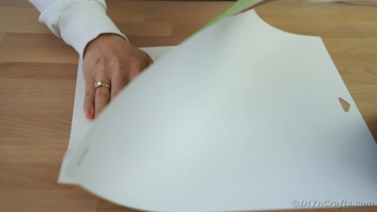 Removing white paper from Cricut mat
