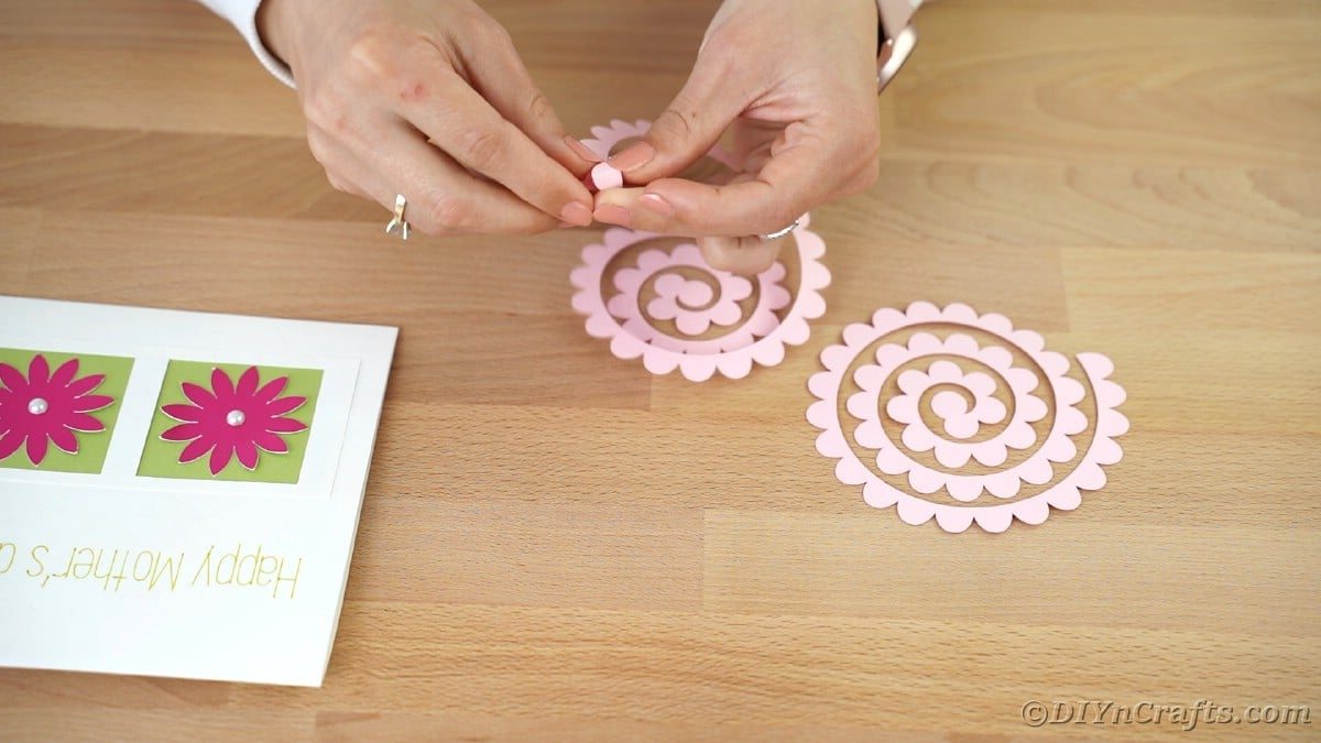 Rolling pink flowers