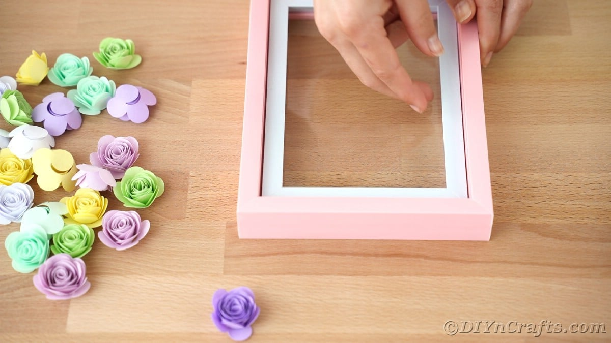 removing back from pink shadowbox