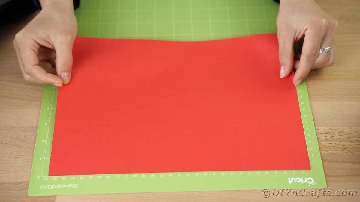 Adding paper to Cricut mat