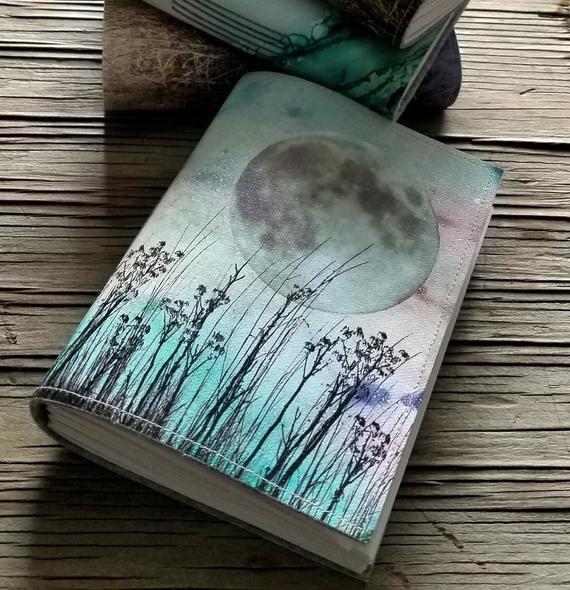 Field of dreams journal unique handmade journal notebook | Etsy