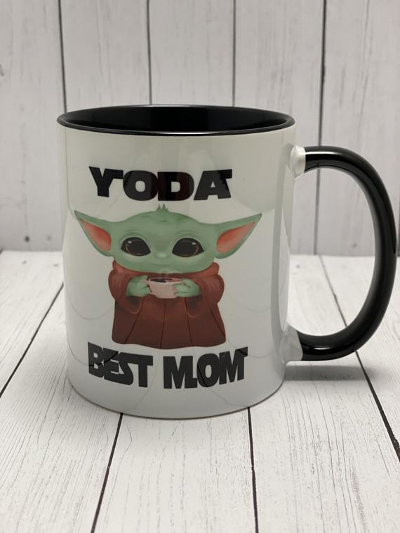 Baby Yoda Best Mom Star Wars Ceramic Mug Gift for Mother | Etsy