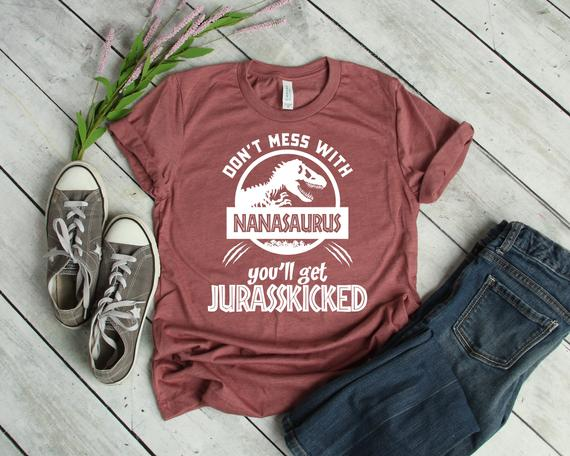 Nana Shirt Unisex Nanasaurus Shirt Don't Mess With Nana | Etsy