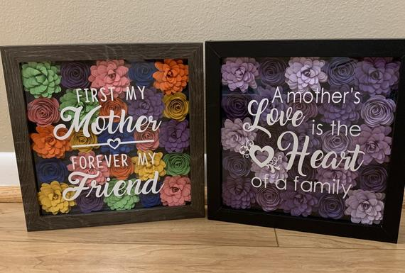 Mother's Day Gift Mother's Day Shadow box Grandma | Etsy