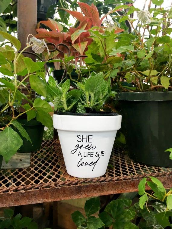 She grew a life she loved inspirational gift inspirational | Etsy
