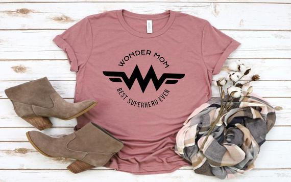 Wonder Mom Design T-Shirts Birthday Gift Shirts Superhero | Etsy