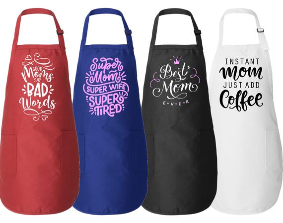 Mother's Day Cooking Aprons 8 Styles Gift for Mom | Etsy