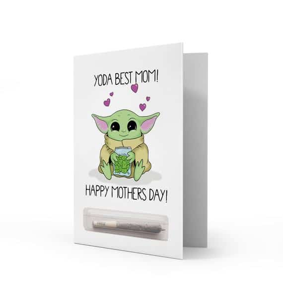 Yoda Best Mom Happy Mother's Day Card Love Funny Humor | Etsy