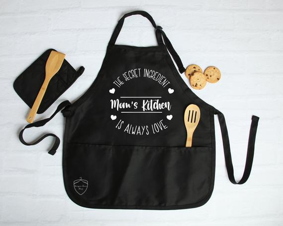 Moms Kitchen Apron Moms Kitchen Is Always LoveApron For | Etsy