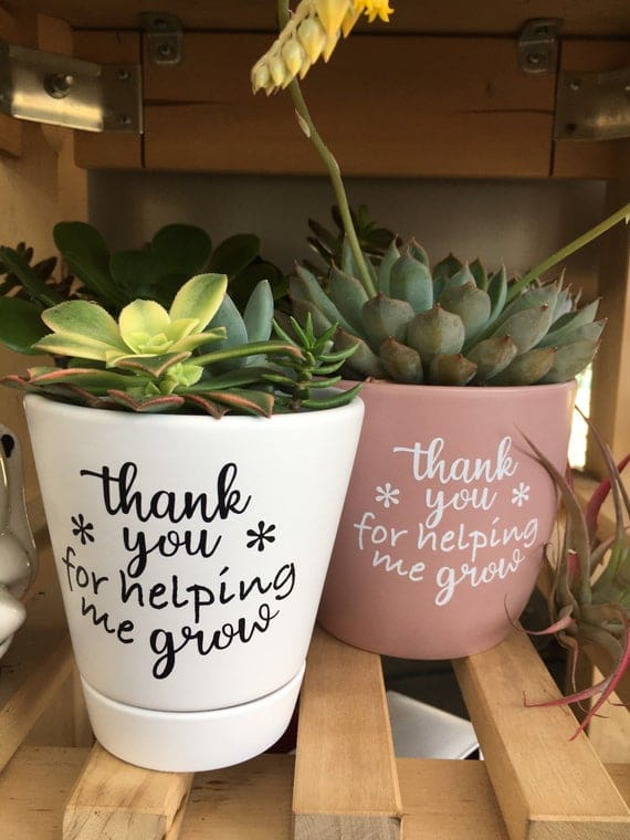 Super Sweet Planter Decal Thank You For Helping Me | Etsy