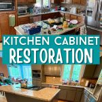 Collage image for kitchen restoration with before and after images
