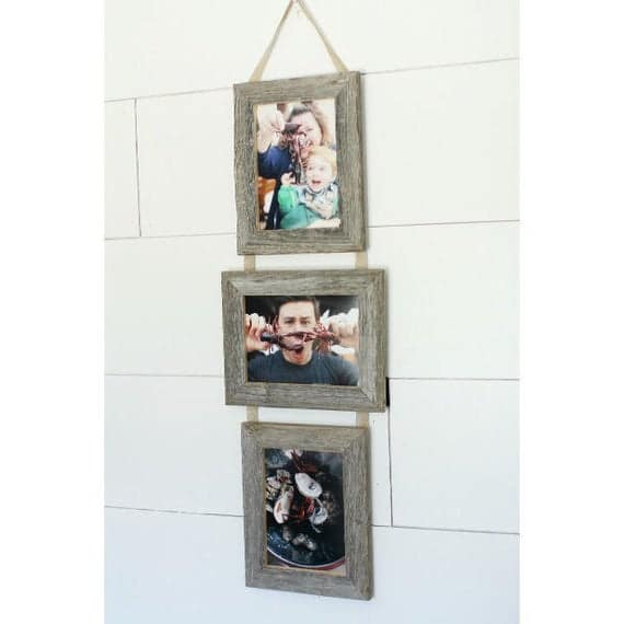 5X7 Three Barnwood Frames on Ribbon 2 Portrait and 1   Etsy