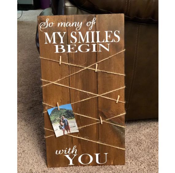 Wooden Photo Board Custom Photo Board Photo Display Board   Etsy