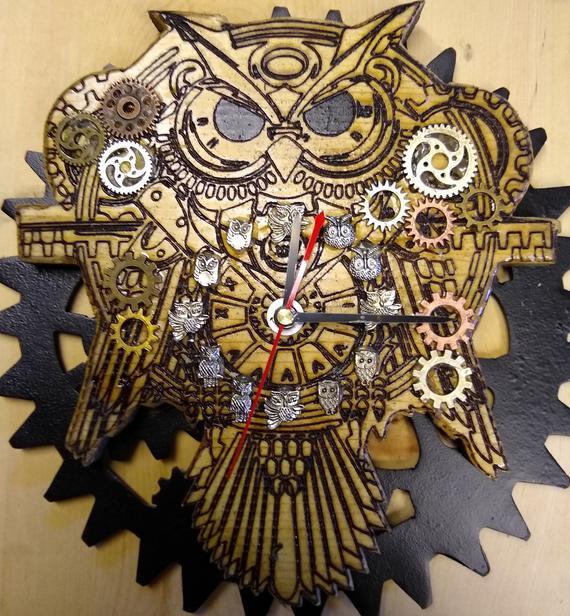 Owl Steampunk Clock | Etsy