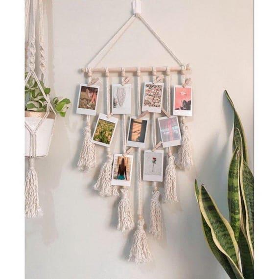 Twine Photo Holder Macrame Photo Hanger Polaroid Wall   Etsy