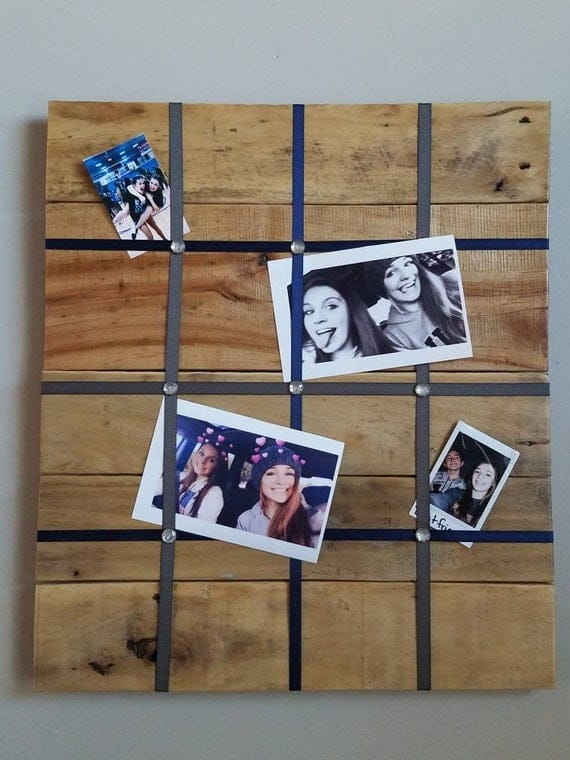 Reclaimed Wood Picture Board with Ribbon   Etsy