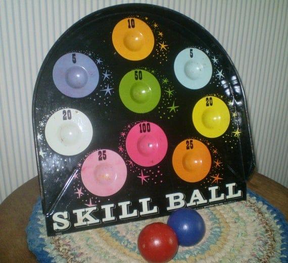 Vintage old tin Skill Ball game Pressman Toy | Etsy