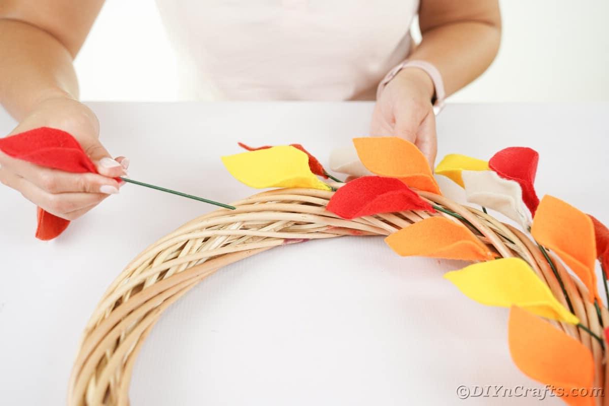 Adicionando folhas à coroa de videiraj