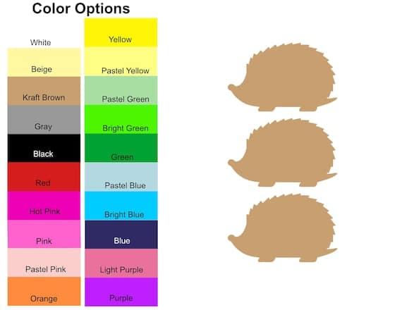 25 Pieces Hedgehog Paper Die Cut Shape Cut Outs for | Etsy