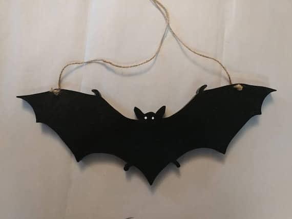 Bat Hanging Decor 3 Wall Black Bats Halloween Decorations | Etsy