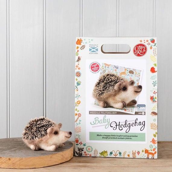 Baby Hedgehog Needle Felting Kit   Etsy