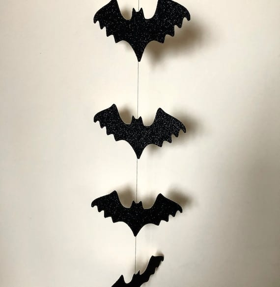 Bat Garland Halloween Bat Decor Hanging Bat Decoration | Etsy