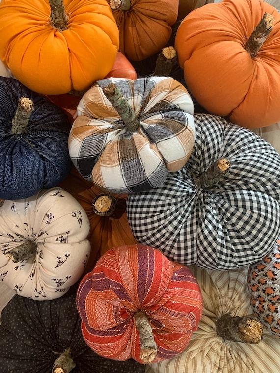 Pick your Patch Mix & Match Stuffed Fabric Pumpkins/ Fall | Etsy