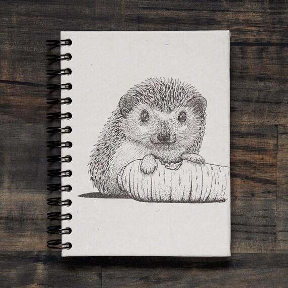 Mr. Ellie Pooh Elephant Dung Paper Hedgehog Sketch Notebook | Etsy