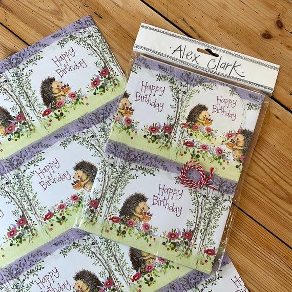 Birthday Hedgehog Gift Wrap & Tags | Etsy