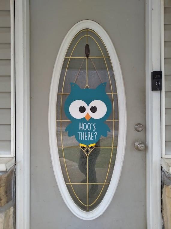 Hoo's There Owl Door Hangers   Etsy