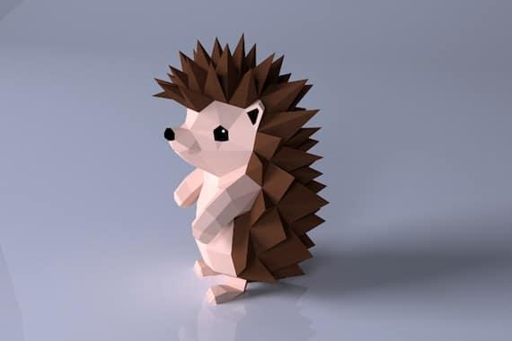PDF Template Hedgehog Paper CraftDigital | Etsy