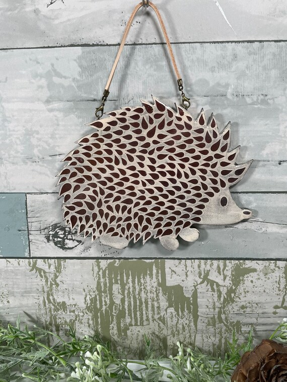 Hedgehog Hanging Wall Decor resin art resin artwork resin | Etsy