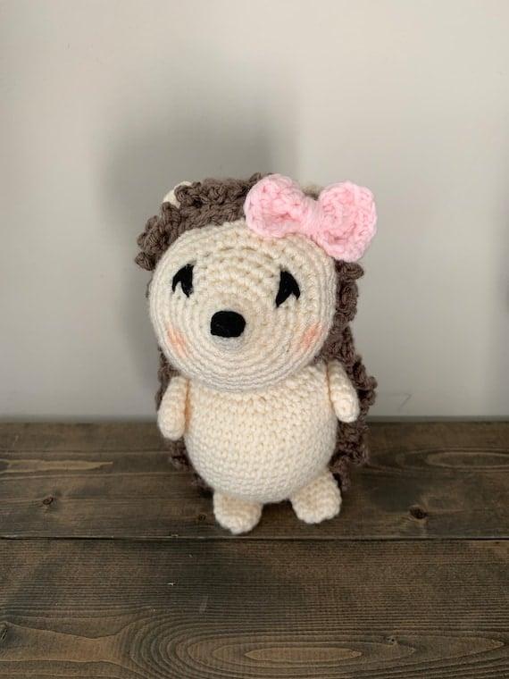 Crochet hedgehog plush toy handmade doll cute hedgehog gift | Etsy