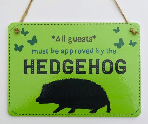 All Guests Must Be Approved By the Hedgehog sign | Etsy