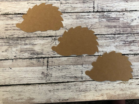 Hedgehog DIY tags paper tagsHedgehog gift tag party | Etsy
