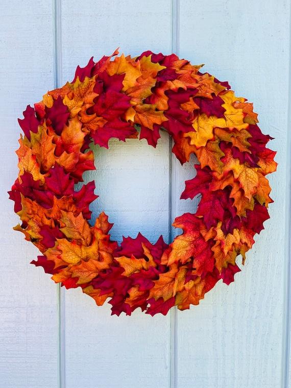 Fall Maple Wreath Autumn Wreath Fall Leaf Wreath Fall | Etsy