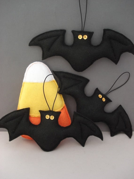 Felt Bat Ornament Halloween Ornament Home Decor Hanging | Etsy