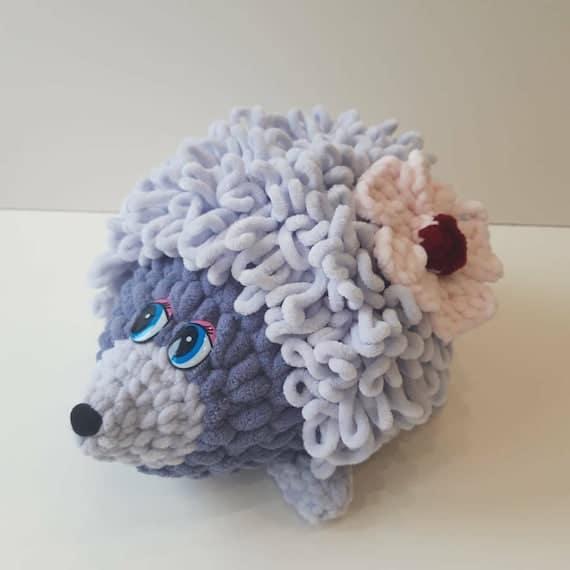 Hedgehog toy amigurumi toy soft toy crochet toy velour   Etsy
