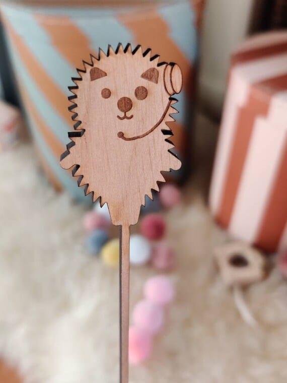 Caketopper Hedgehog Jens individually made of solid alder wood   Etsy