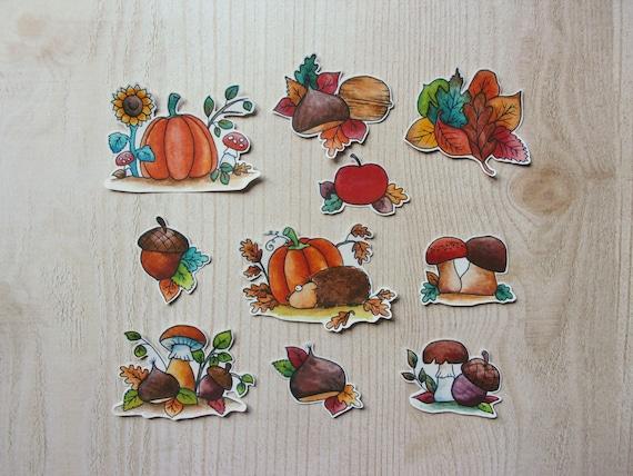 Stickers Scrapbooking Autumn decoration nature brown orange   Etsy