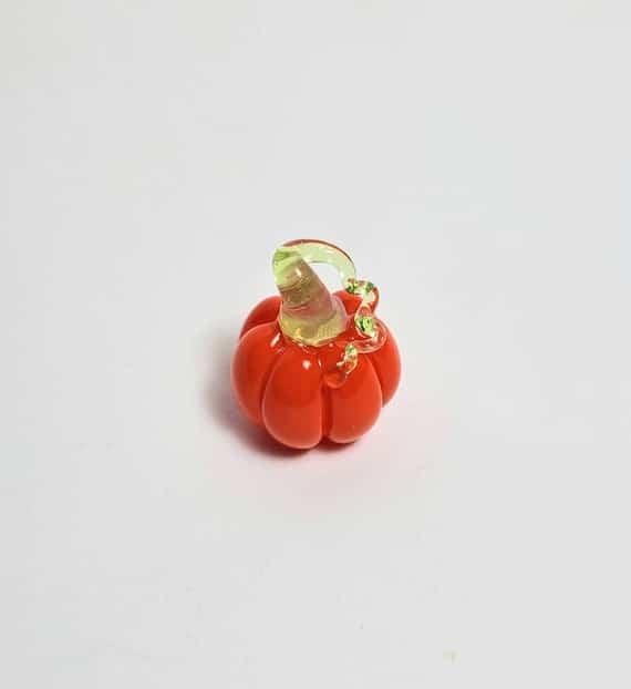 Miniature Glass Pumpkin | Etsy