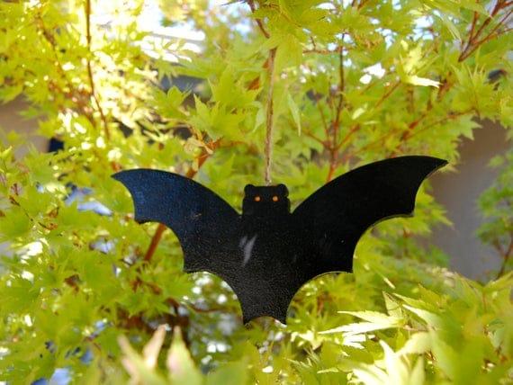 Halloween Bat Wood Decoration | Etsy