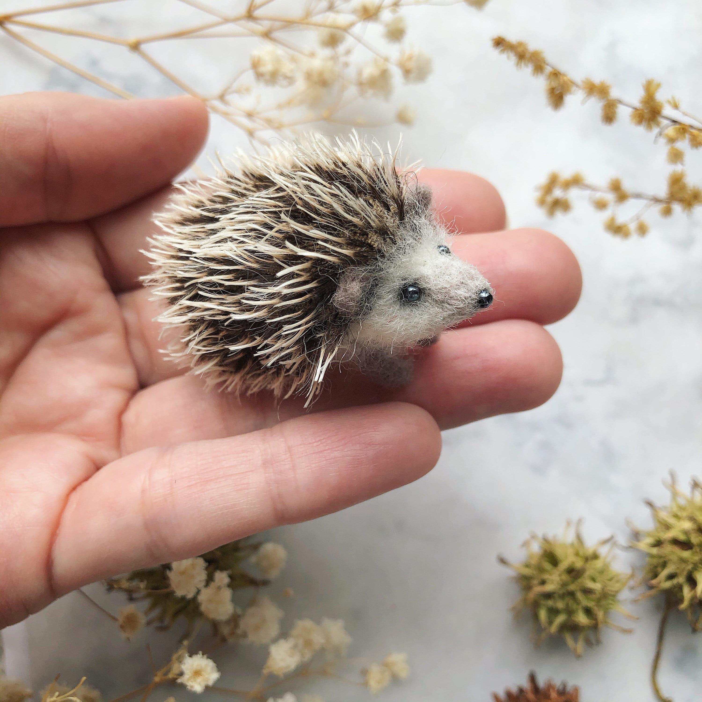 Miniature hedgehog Felted Hedgehog Cute hedgehog | Etsy