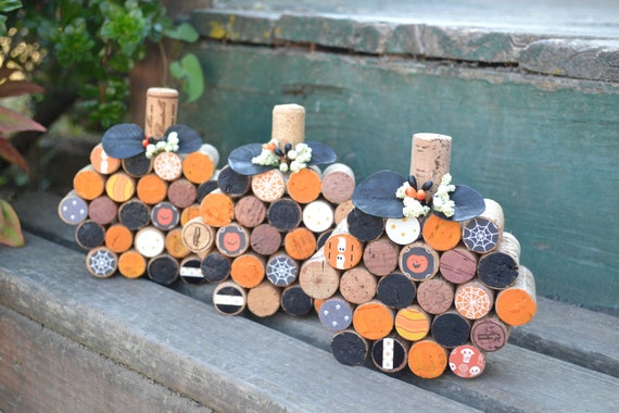 Cork Pumpkins Halloween Decor 1 Pieces | Etsy