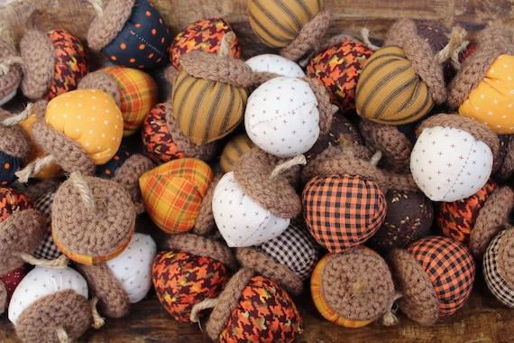 Handmade Fabric Acorns Harvest Acorns Autumn Fall Accents Bowl   Etsy