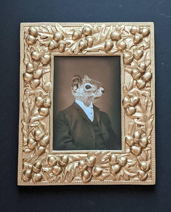 Original Mr. Squirrel Portrait in Rectangular Frame   Etsy